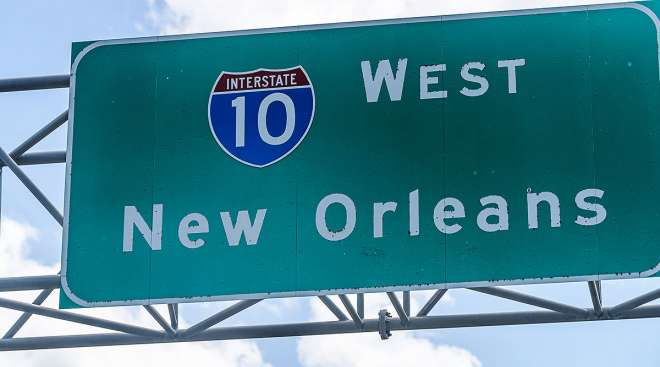 New Orleans highway sign