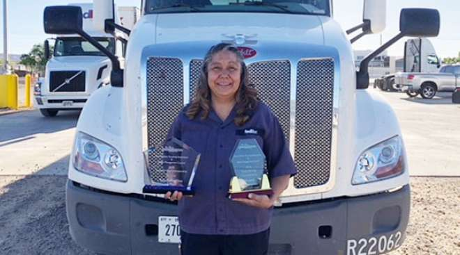 New Mexico Grand Champion Loretta Bruyere of FedEx Freight
