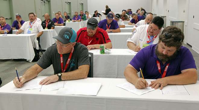 Drivers prepare to take written exam at NTDC