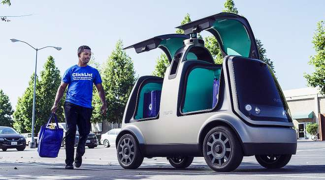 Kroger and Nuro's R1 driverless delivery vehicle