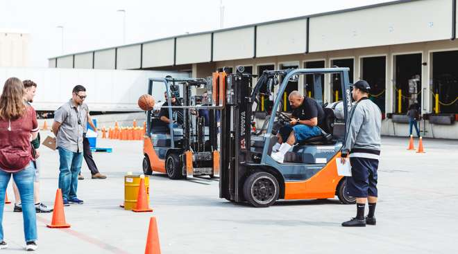 Old Dominion Freight Line forklift competition