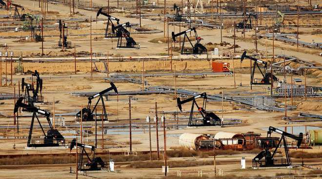 Oilfield in Bakersfield, Calif.