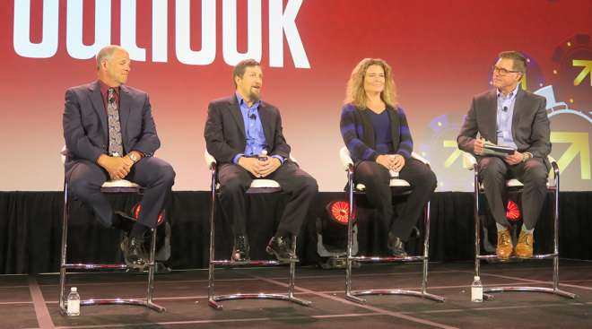 Regulations panel at Omnitracs' Outlook 2020 user conference