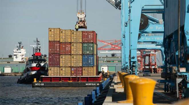 Activity at the Port of Virginia