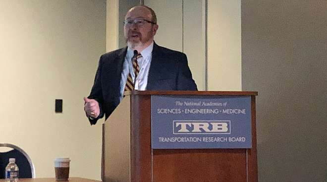 Jeff Purdy, a transportation specialist with the Federal Highway Administration Freight Management and Operations office