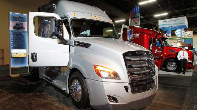 A Freightliner Cascadia