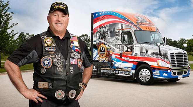 Navy veteran and Ride of Pride driver, David Price