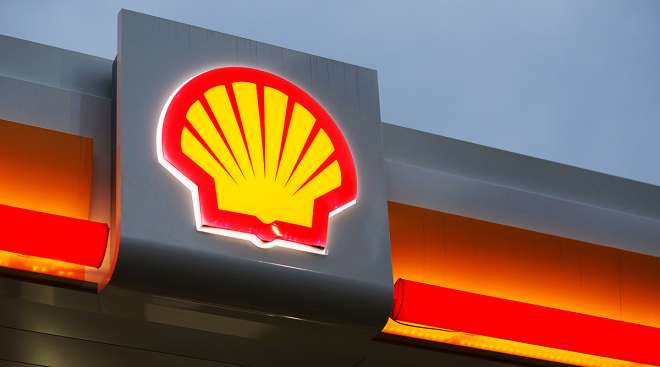 Shell fuel sign