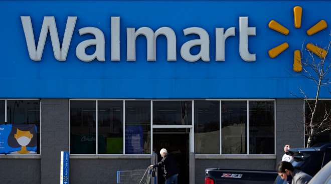 A Walmart store in Rolling Meadows, Ill., is seen from its parking lot on Nov. 5.