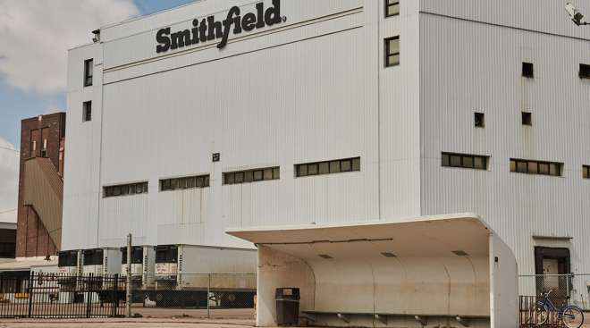Smithfield plant in Sioux Falls, S.D.