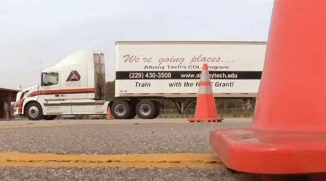 Truck driver education through Albany Technical College