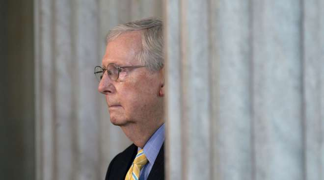 Mitch McConnell is raising doubts about another coronavirus stimulus bill.