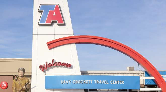 A TravelCenters of America in Tennessee