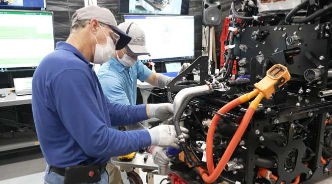 Toyota fuel cell stack assembly