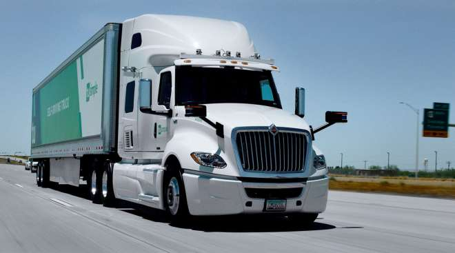 TuSimple's autonomous technology for trucks could yield fully driverless routes as early as next year.