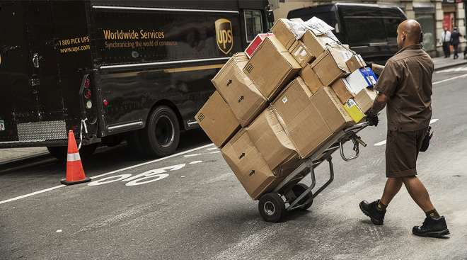 UPS delivery in NYC