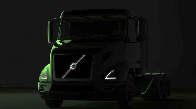 A preview of the Volvo VNR Electric