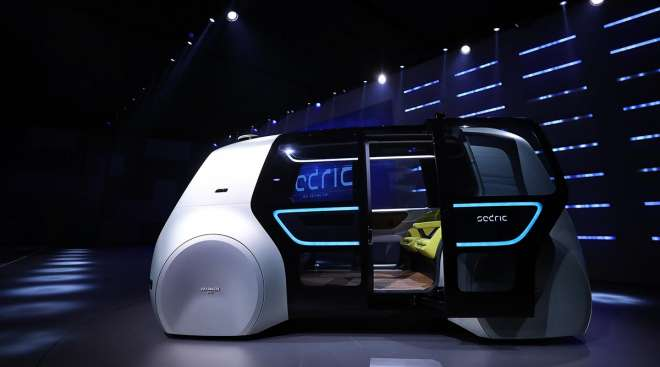 A Volkswagen 'Sedric' self-driving automobile