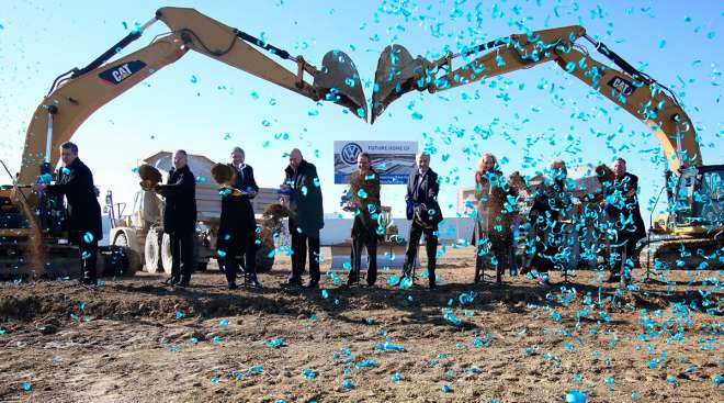 Breaking ground for Volkswagen facility in Tennessee