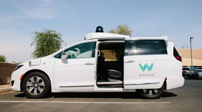 Waymo-equipped Chrysler Pacifica undergoes testing