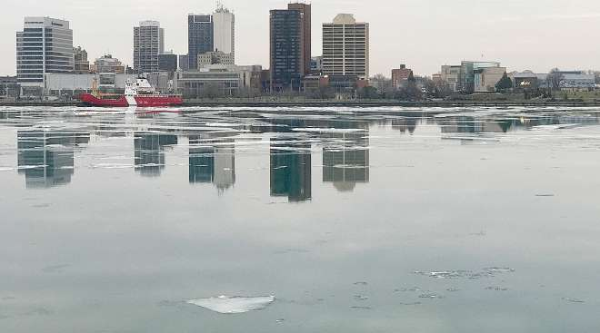 A view of Windsor from Detroit