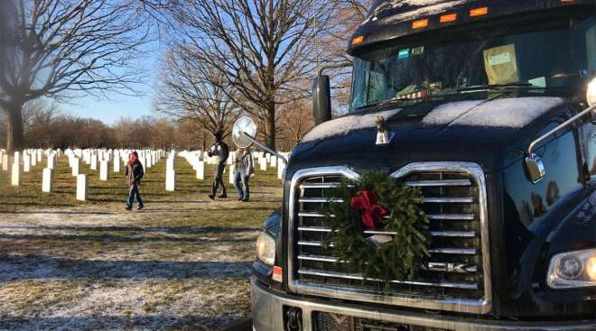 Share the Road truck at Arlington Cemetery