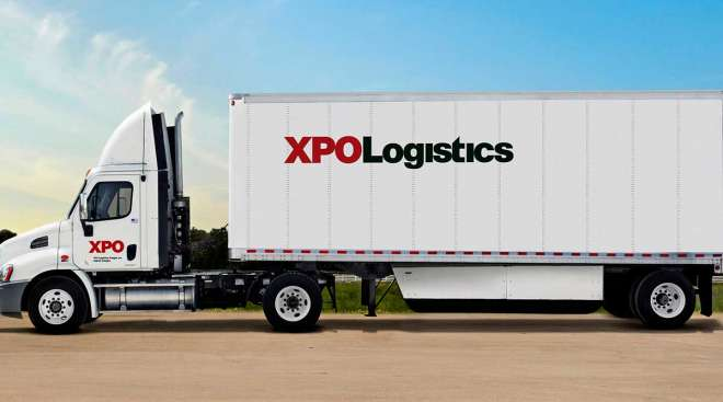 XPO truck hits the road