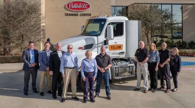 Officials from Yellow and Peterbilt