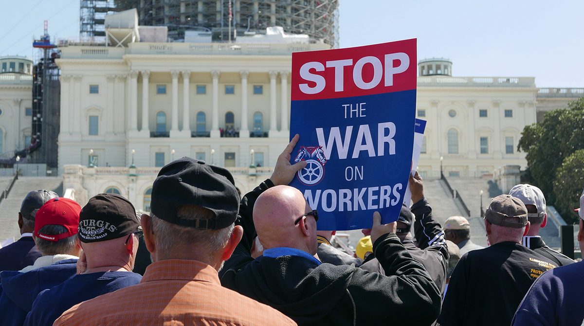 Teamsters rally at Capitol