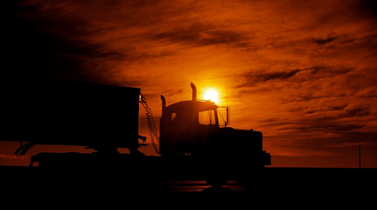 Truck as Sunset