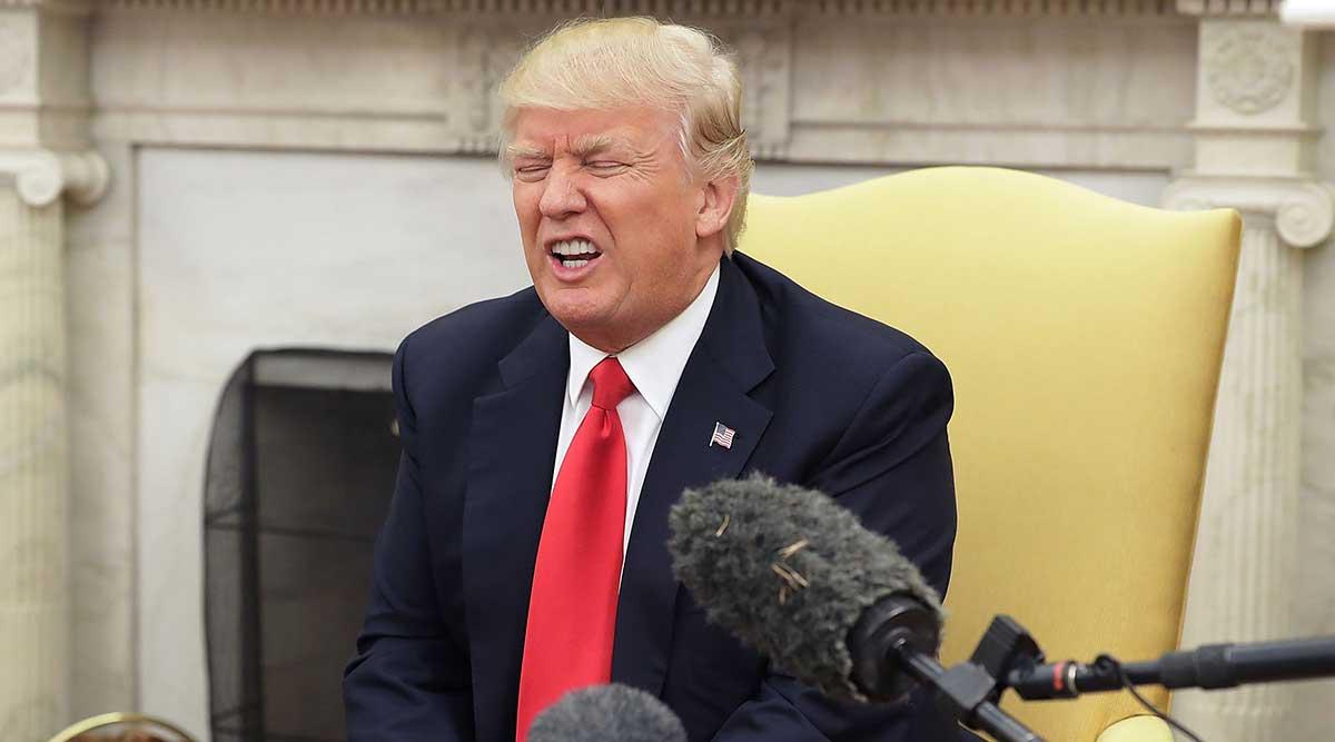 President Trump sitting
