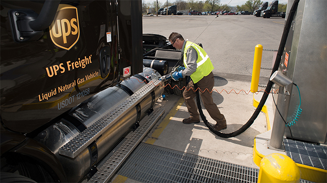 UPS LNG fueling