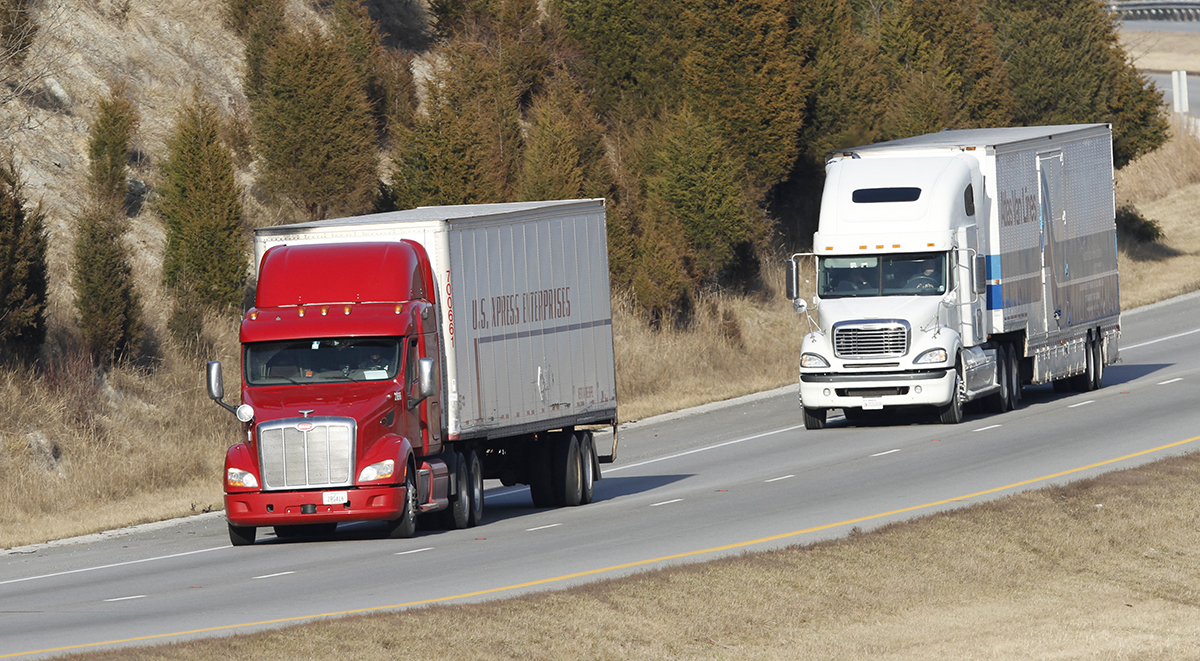 US Xpress trucks highway Kentucky