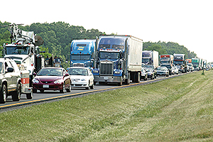 I-81 traffic in Virginia
