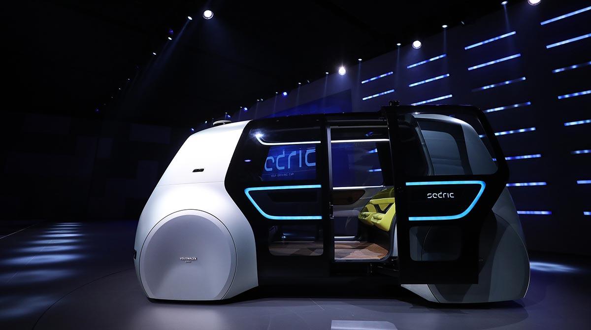 A Volkswagen 'Sedric' self-driving automobile