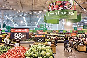 Walmart produce department