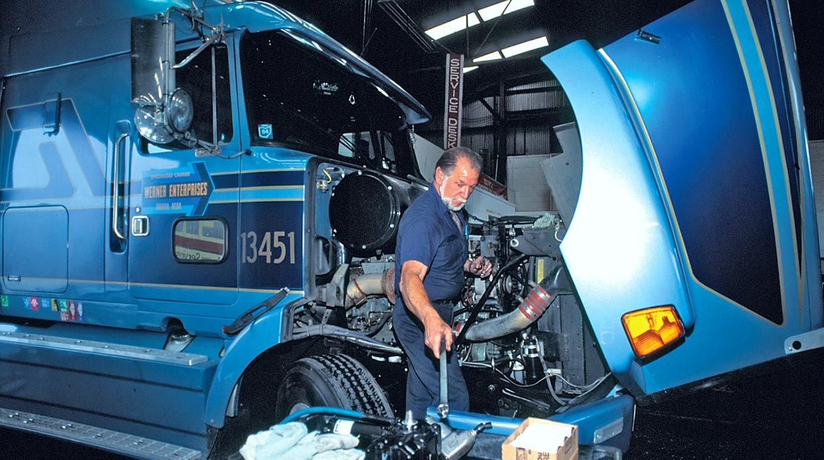 Werner mechanic truck bay