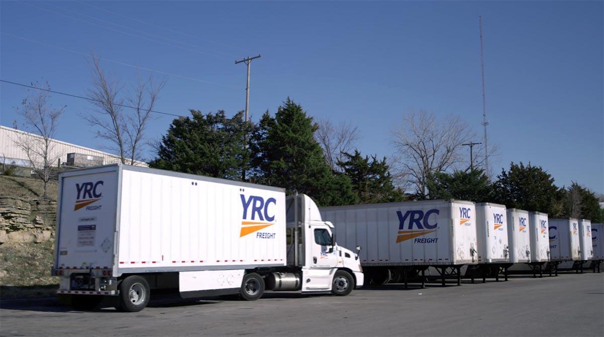 YRC truck trailers